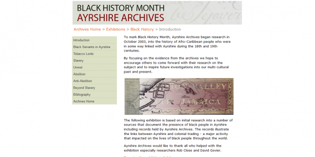 Ayrshire Archives- Black History Month