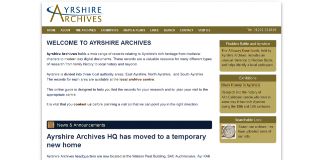 Ayrshire Archives Online